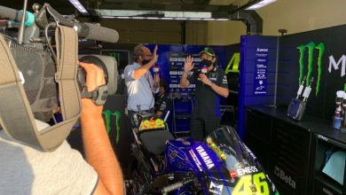 "Photo of Valentino Rossi con i piloti di Formula 1: ""Guidare una F1 spinge il corpo al limite"".  VIDEO"